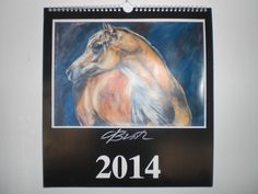 the calendar with 13 paintings an ideal present for x-mas. 33 x 35 cm, hand signed from the artist, odette butz