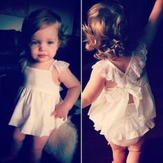 Baby Girls Romper Lace Dress. Cute baby girls' summer collection, lovely and sweet.