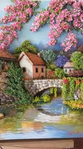 Painting oleo realistic ideas for 2019 Sculpture Painting, 3d Painting, Fabric Painting, Polymer Clay Painting, Art Quilling, Quilling Designs, Clay Wall Art, Cottage Art, Mural Art