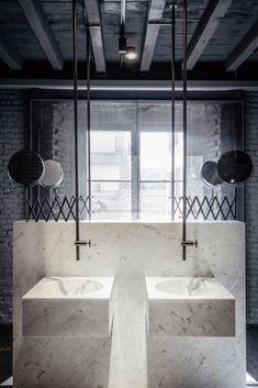 Salvatori - marble bath - FuoriSalone 2016 - interiors