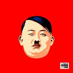 Luego de la polémica que causó la película The Interview que derivó en su distribución en Internet, el ya muy conocido ilustrador Butcher Billy creó una serie de imágenes que reimaginan a Kim Jong Un, el líder norcoreano, en la cultura pop.