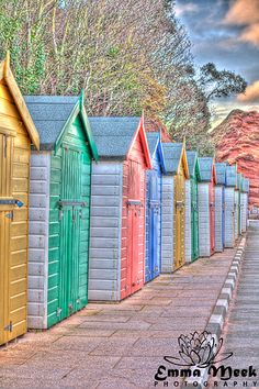 Beach Huts in Dawlish.