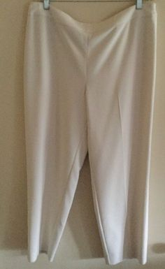 New with tags, St. John Marie Gray  Emma Knit Pants, Beige Size 16 $395 Boutique  | eBay