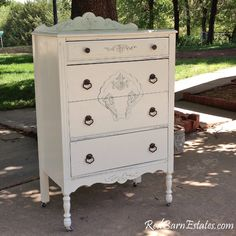 vintage white cottage distressed furniture