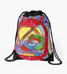 Elf Lantern Drawstring Bag Take A Nap, Take That, Head Start, Drawstring Backpack, Elf, Lanterns, Whimsical, Pouch, Seasons