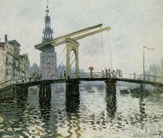 The Bridge, Amsterdam - Claude Monet
