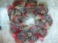 Red Cross burlap wreath