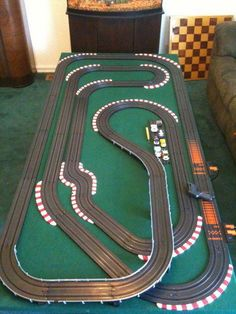 Taking Your HO Scale Slot Car Track to the Next Level Cheaply : 11 Steps - Instructables Slot Car Race Track, Slot Car Racing, Slot Car Tracks, Race Cars, Race Tracks, Electric Race Car Track, Carrera Slot Cars, Scalextric Track, Afx Slot Cars