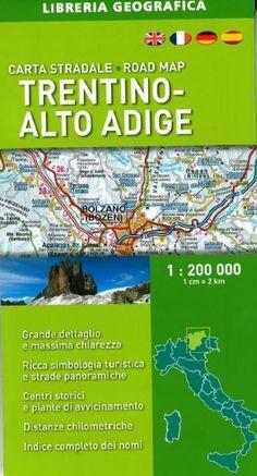 Trentino-Alto Adige, Italy, Road Map by Libreria Geografica
