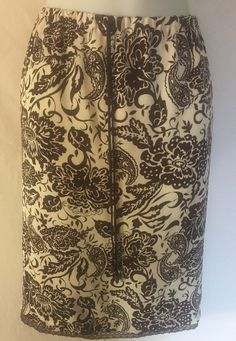 4f7344ad331 Villager Liz Claiborne Woman Skirt Brown Floral Print Lined Career Size 16P
