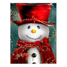 Shop Cute snowmans - snowman illustration postcard created by RedSamurais. Snowman Cartoon, Snowman Poop, Snowman Faces, Cute Snowman, Snowman Crafts, Snowman Wreath, Wood Snowman, Melted Snowman, Cartoon Cartoon