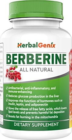 Lower Cholesterol, Control Weight, Regulate Blood Sugar with HerbalGenix Berberine Supplement. Made with ALL Natural Ingredients. NON-GMO/Gluten Free/Veg Capsules High Blood Sugar Causes, Blood Sugar Diet, Lower Blood Sugar, Lower Your Cholesterol, Cholesterol Lowering Foods, Cholesterol Levels, Cholesterol Symptoms, Healthy Women, Healthy Tips