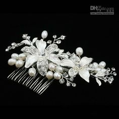 Wholesale Bridal Hair Accessories - Buy Wedding Bridal Hair Comb Crystal Floral Ornaments Pearl Fine Jewelry Hair Brush Wedding Dress Accessories HL013080, $11.36 | DHgate