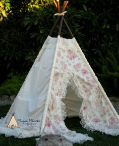 BEATRICE  teepee play tent photo prop by SugarShacksTeepee on Etsy, $155.00