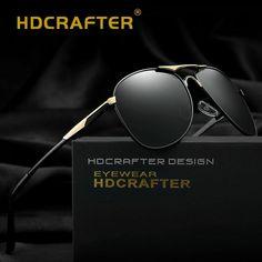 55b0f0df0ad7 Polarized Sunglasses Men UV400 Pilot Brand Design Sunglasses Male Driving  Sun #affilink #polarizedsunglasses #