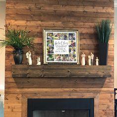 Rustic Wood Fireplace Mantel Shelf Distressed Farmhouse   Etsy Floating Fireplace, Wood Fireplace Mantel, Mantel Shelf, Tongue And Groove, Rustic Wood, Wood Grain, Beams, Farmhouse, Shelves