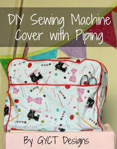 Sew your own sewing machine with piping and pockets