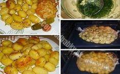 Rozrezala 4 kuracie prsia a naplnila ich strúhaným syrom! Najlepšie pečené kuracie prsia na svete - Recepty od babky Baked Potato, Potatoes, Meat, Chicken, Baking, Ethnic Recipes, Food, Potato, Bakken