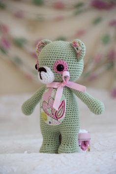 Amigurumi teddy bear treasure bear crochet ♡ by LavenderGiraffaToys