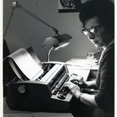 My Grandma, working as a secretary in NY City, she could type over 100 words a minute I Am Shocked, Becoming A Writer, Old Family Photos, 100 Words, Short Break, Top Ten, Submissive, How To Become, Author