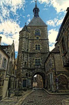 The clock tower, Avallon, Burgundy, France.