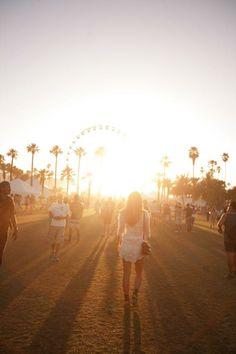 Nothing sets like a Coachella sunset.