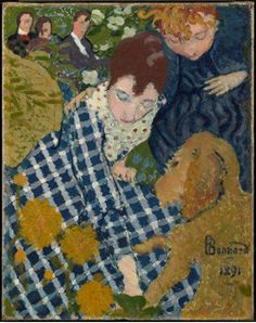 Dona amb gos (Pierre Bonnard, 1891)