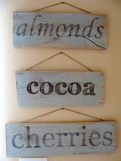 Tutorial: Vintage-looking painted sign from salvaged wood. Can't remember what I wanted to look vintage recently but there was something I needed faded writing for? Home Crafts, Crafts To Make, Fun Crafts, Arts And Crafts, Wooden Signs With Sayings, Wood Signs, Rustic Signs, Pallet Signs, Look Vintage