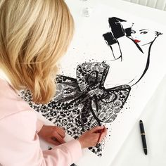 Limited Edition prints : LACE DIOR -by MeganHess