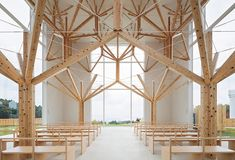 Branching out: Agri Chapel in Nagasaki, Japan by Yu Momoeda Architecture Office Architecture Design Concept, Detail Architecture, Church Architecture, Architecture Office, Timber Architecture, Drawing Architecture, Architecture Portfolio, Tree Structure, Timber Structure