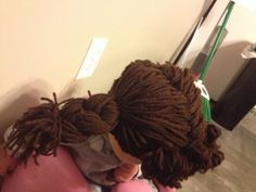 How To Make a Cabbage Patch Wig + Kufi Poof - Mother's Niche