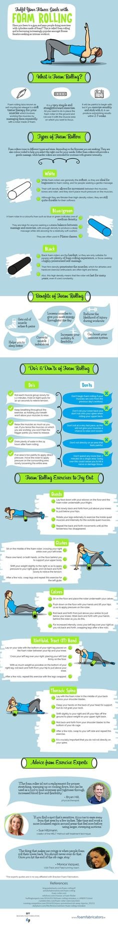Yoga Fitness Flow - Fulfil-Your-Fitness-Goals-with-Foam-Rolling-Infographic - Get Your Sexiest Body Ever! You Fitness, Fitness Goals, Fitness Tips, Fitness Motivation, Health Fitness, Fitness Online, Fitness Brand, Health Goals, Fitness Tracker