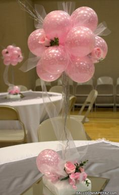 Balloon centerpiece.  #balloon wedding centerpiece #balloon-wedding-centerpiece #balloon wedding decor #balloon-wedding-decor