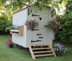 Our chicken house Shepherd Hut chicken-houses Glamping, Gypsy Wagon, Gypsy Caravan, Shepherds Hut, Chickens Backyard, Dream Garden, Woodworking Projects Plans, Small Spaces, Chicken Houses