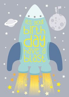 £2.99 | @maciedotdoodles #kids #birthday #childrens #rocket #party #ideas