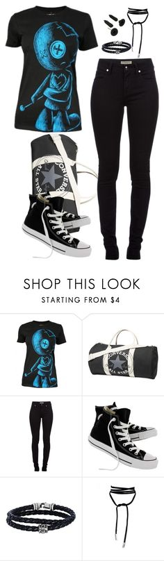 """""""Untitled #668"""" by destiny-demon ❤ liked on Polyvore featuring Converse, Burberry and Phillip Gavriel"""
