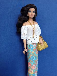 Top and skirt set for Barbie Fashion Royalty and similar size