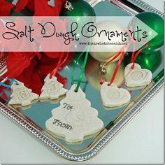 Salt Dough Ornaments - Great #kidsactivity  #ornaments