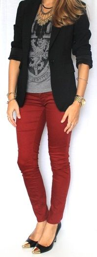 Coloured Jeans Style