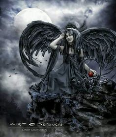 Dark fallen angel goth gothic fantasy angels Dark Art, Dark Angels, Fallen Angels,