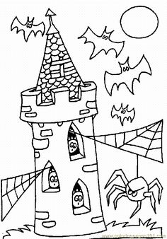 Halloween color page. Holiday coloring pages and Seasonal coloring pages. Coloring pages for kids. Thousands of free printable coloring pages for kids! Moldes Halloween, Feliz Halloween, Bricolage Halloween, Halloween Favors, Disney Halloween, Holidays Halloween, Halloween Crafts, Halloween Printable, Halloween Activities