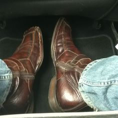 """My sexy Italian leather boots I bought in Siena under the """"gigolo jeans"""" I got in Florence...good Italy memories...."""