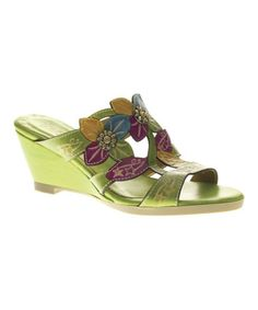 Another great find on #zulily! Green Dandy Leather Wedge #zulilyfinds