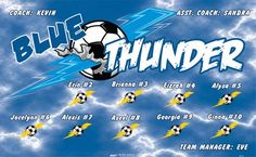 Thunder-Blue-42372 digitally printed vinyl soccer sports team banner. Made in the USA and shipped fast by BannersUSA. www.bannersusa.com