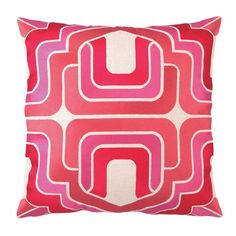 I pinned this Ogee Embroidered Pillow in Pink from the Trina Turk & D.L. Rhein event at Joss & Main!