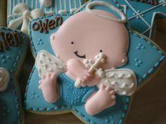 Baptism cookies omg how cute! Christening Cupcakes, Baptism Cookies, Baby Shower Cookies, Easter Cookies, Galletas Cookies, Cupcake Cookies, Sugar Cookies, Angel Cookies, Crazy Cookies