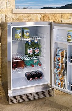 Easy entertaining with this great outdoor fridge!