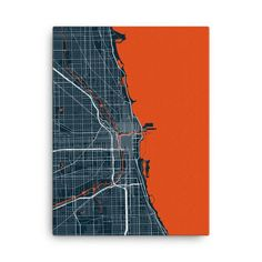 Chicago Bears Map Canvas