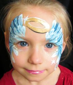 super quick ANGEL face painting by Barbie @ ARTiFACES in York, PA