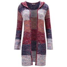Joe Browns Multi coloured bright boutique long cardigan (6595 RSD) ❤ liked on Polyvore featuring tops, cardigans, multi color cardigan, hooded cardigan, long purple cardigan, long knit cardigan and hooded knit cardigan